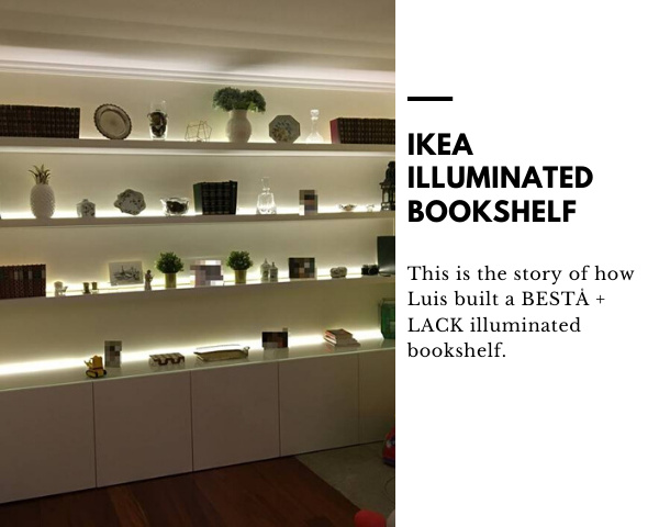 IKEA illuminated bookshelf