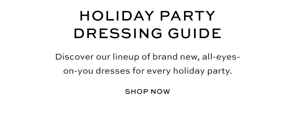Holiday Party Dressing Guide