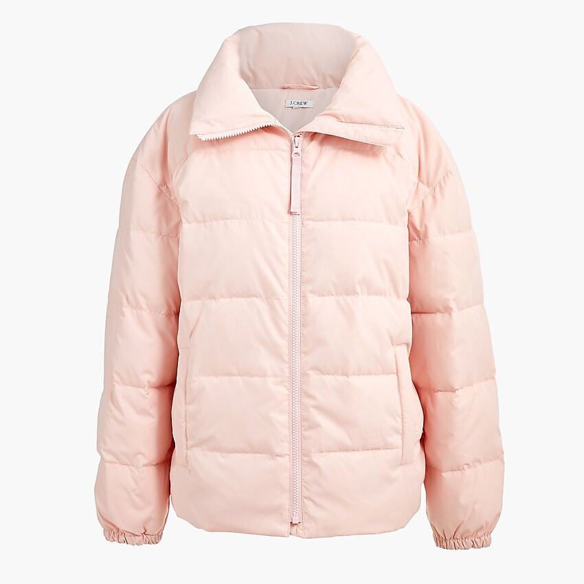 Short funnelneck puffer jacket