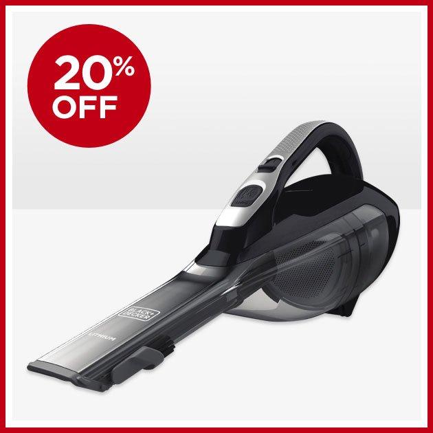 20% OFF - Black+Decker™ High‑Capacity Lithium Handheld Vacuum