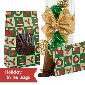 Holiday Tin Tie Bags