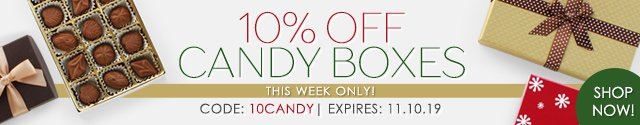This Week Only: 10% Off Candy Boxes