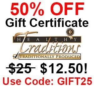 50% OFF $25 Gift Certificate