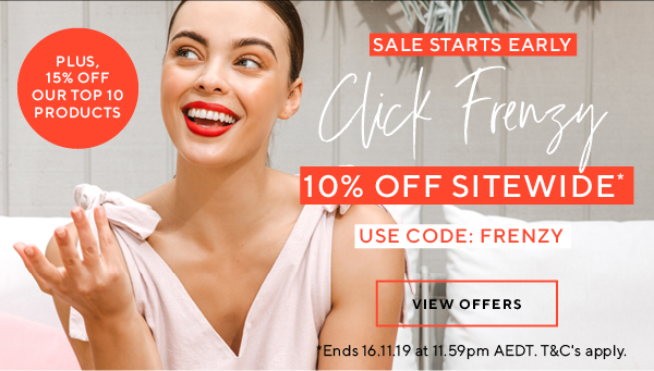 Click frenzy - 10% off sitewide