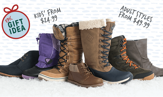 Epic Gift Idea: Shop Boots...Adult Styles from $49.99...Kids's from $24.99
