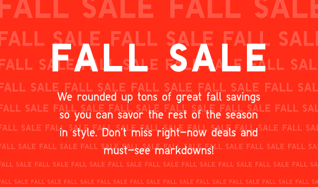 HEADER - FALL SALE