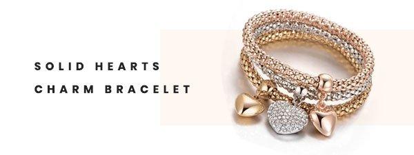 Solid Hearts Charm Bracelet