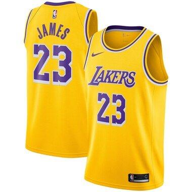 LeBron James Los Angeles Lakers Nike 2018/19 Swingman Jersey Gold - Icon Edition
