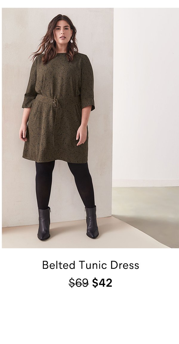 Belted Tunic Dress $69 $42