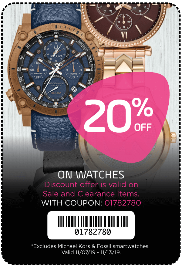 20% Off Watches