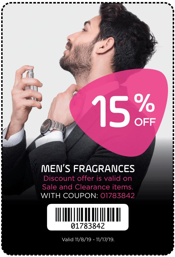 15% Off Men's Fragrances