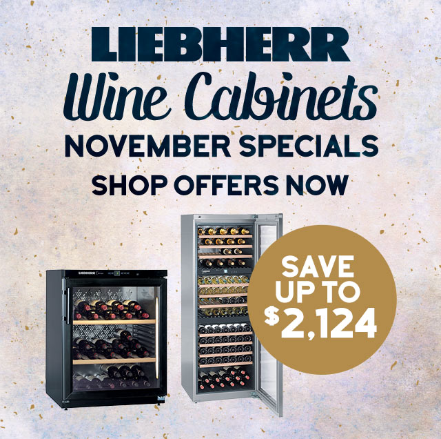 Liebherr Wine Cabinets November Special prices - Save up to $2,124