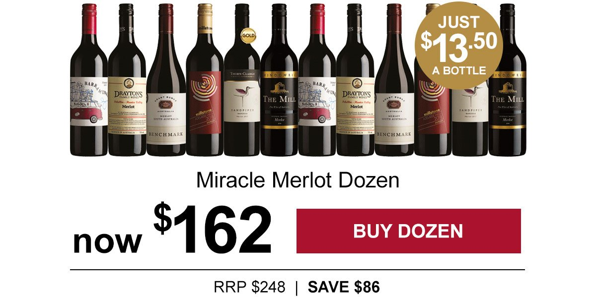 Miracle Merlot just $13.50 a bottle!