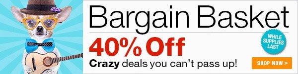 40% off Bargain Basket Sale - Shop Now >