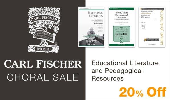 20% off Carl Fischer Choral Sale