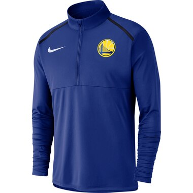 Men's Nike Royal Golden State Warriors Element Performance Half-Zip Pullover Jacket