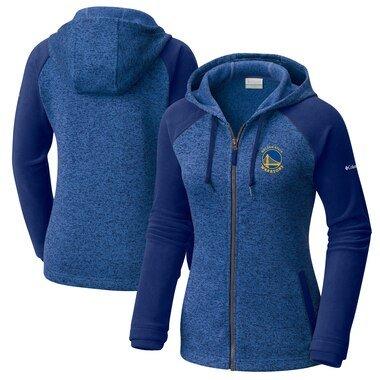 Women's Columbia Blue Golden State Warriors Darling Days Full-Zip Hoodie