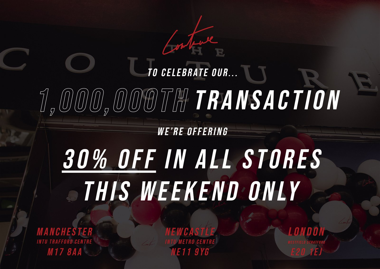 30% OFF IN STORE