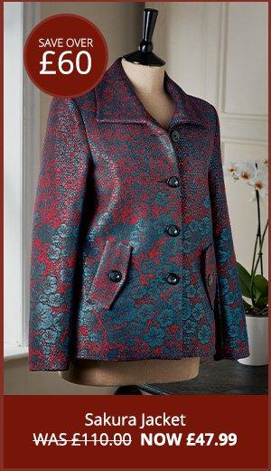 Sakura Jacket WAS £110.00  NOW £47.99