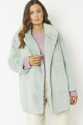 Faux Fur Midi Coat