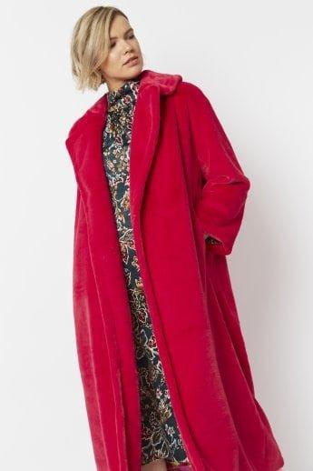 Faux Fur Maxi Coat