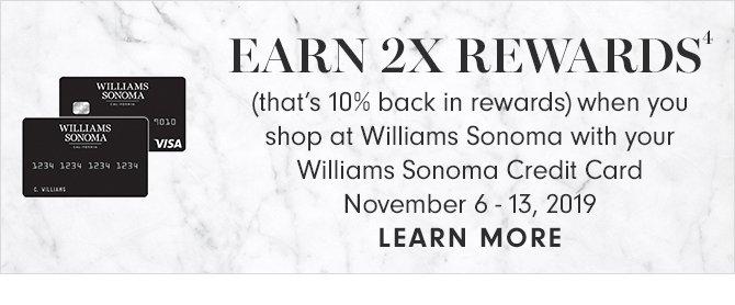 EARN 2X REWARDS(4) - LEARN MORE
