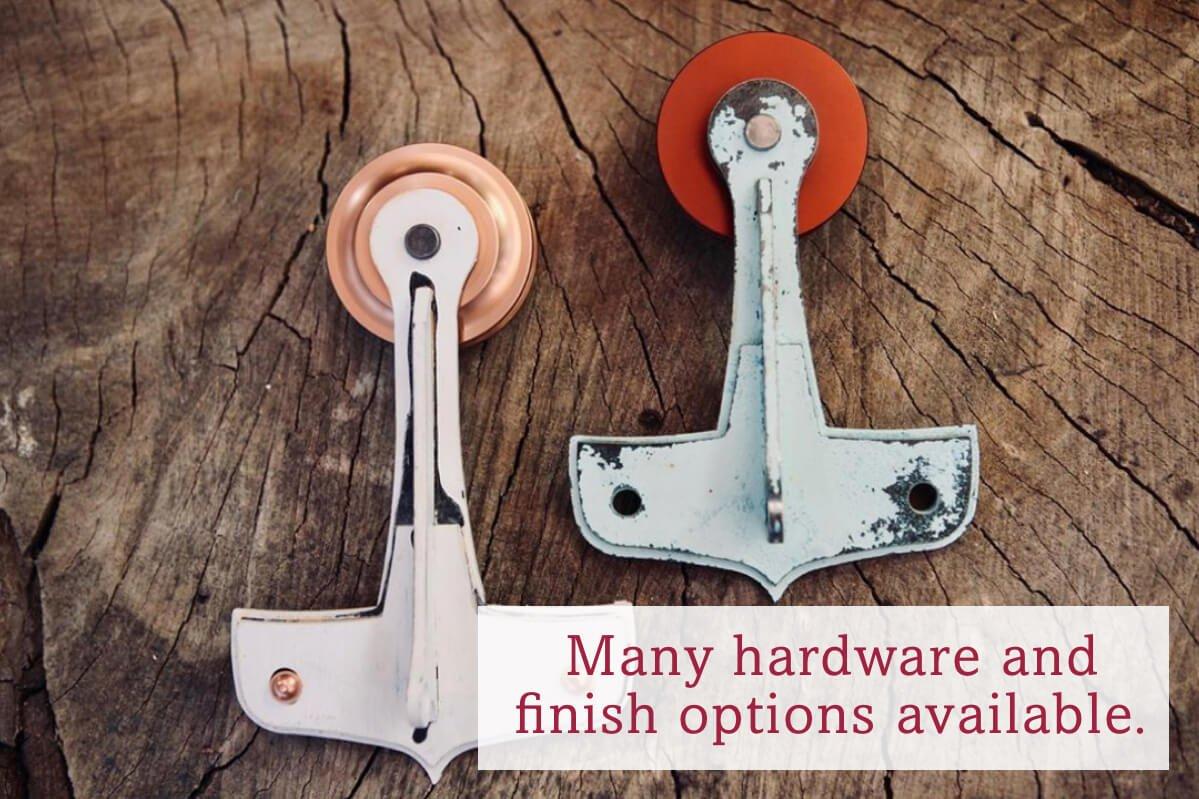 Many hardware and finish options available.