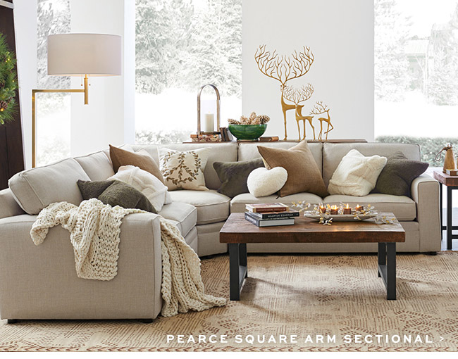 PEARCE SQUARE ARM SECTIONAL >