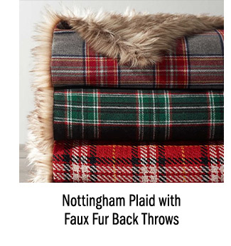 Nottingham Plaid with Faux Fur Back Throws