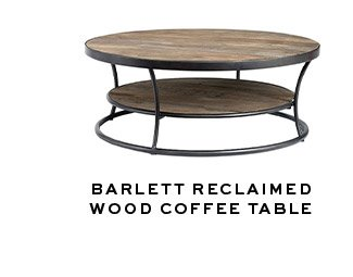 BARLETT RECLAIMED WOOD COFFEE TABLE