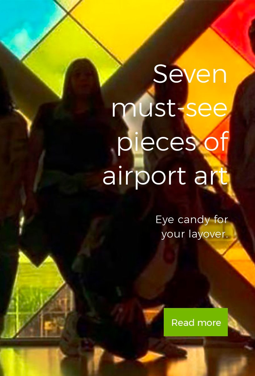 Recommended story 1. 7 must-see pieces of airport art.
