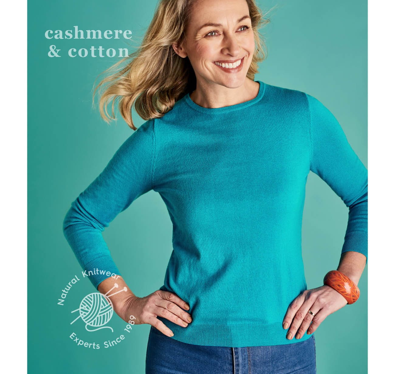 Womens Cashmere & Cotton Knitwear
