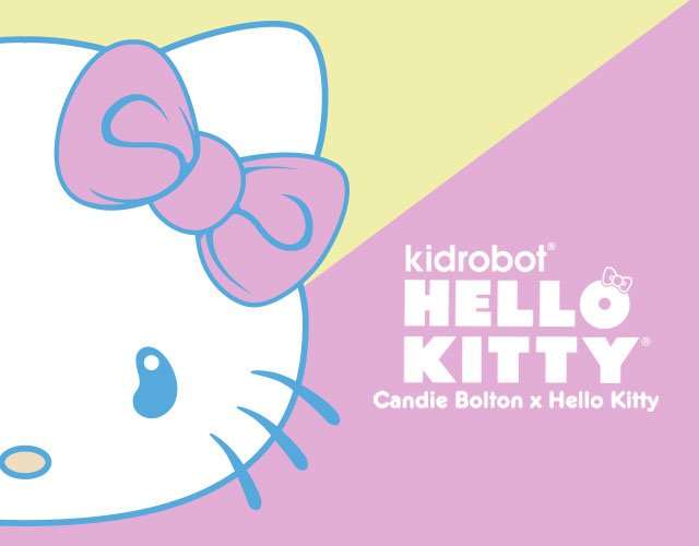 Hello Kitty Is Reimagined In Cool Pastels With A Unique Twist By Artist Candie Bolton and Kid Robot.