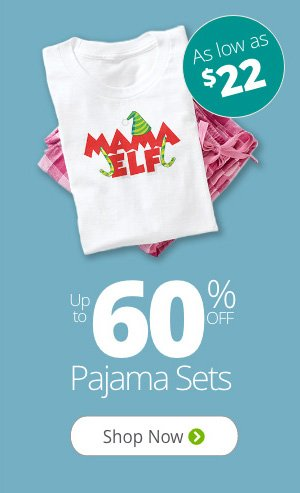 Up to 60% Off Pajamas Sets