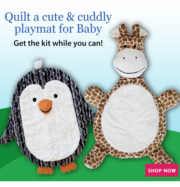 Quilt a cute & cuddly playmat for Baby