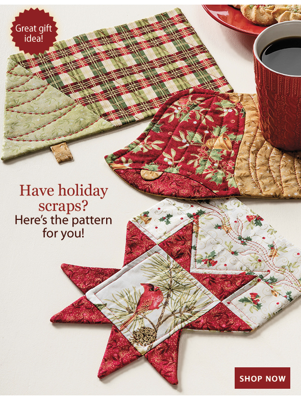 Have holiday scraps? Here's the pattern for you!