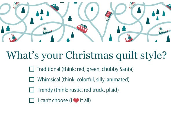 What's your Christmas quilt style?