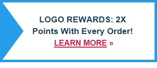 Logo Rewards: 2X Points with Every Order!