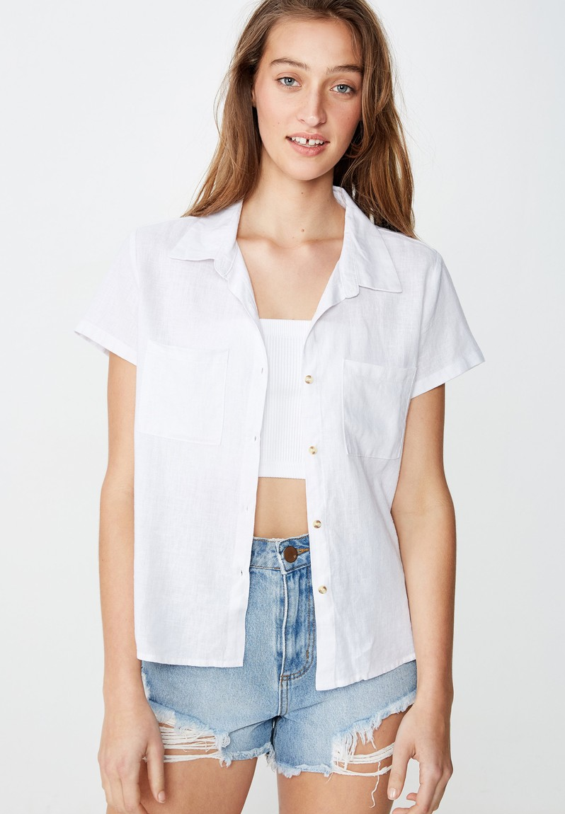 Ricky resort shirt - white