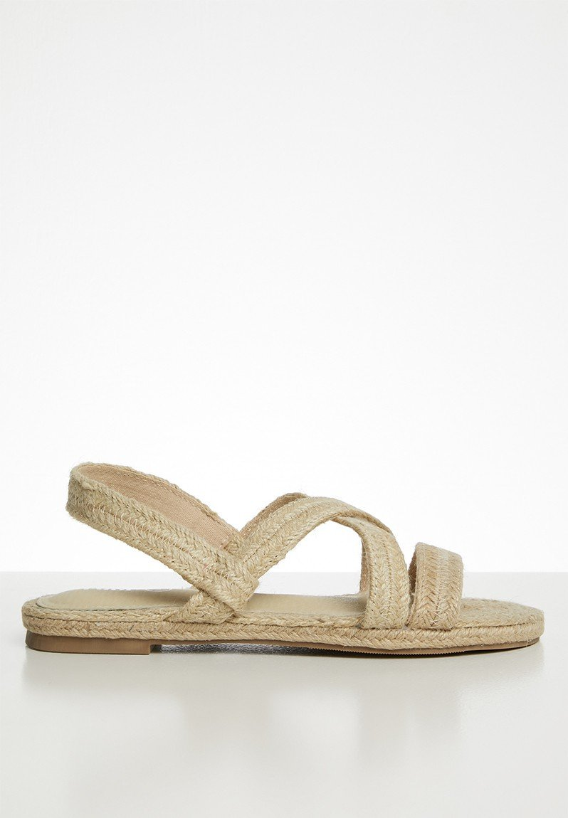 Sling back espadrilles - neutral
