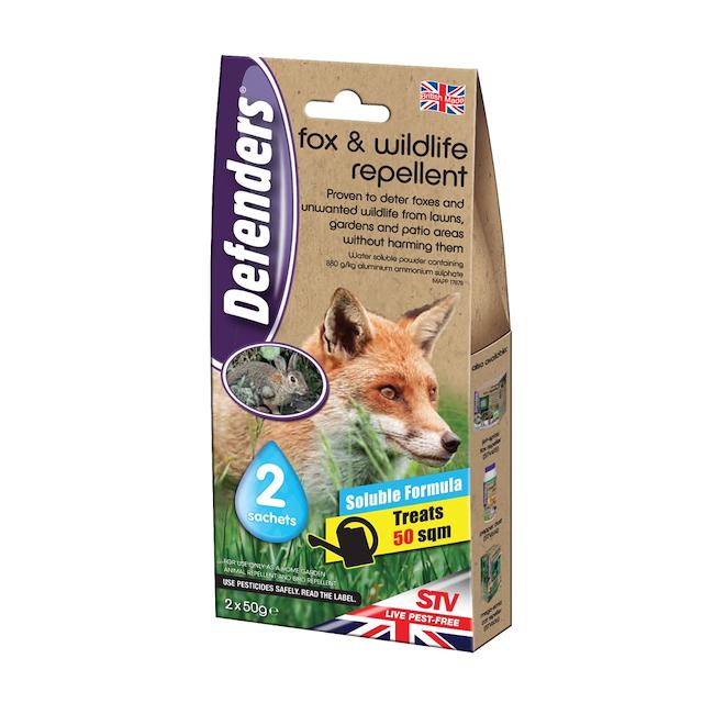 Defenders Fox & Wildlife Repellent 2 x 50 Gm Sachet