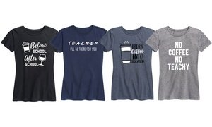 Instant Message: The Teacher Life Women's Tee. Plus Sizes Available.