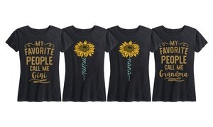 Instant Message: Grandma Sunflower Women's Tee. Plus Sizes Available.