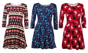 Women's Printed Holiday Dresses