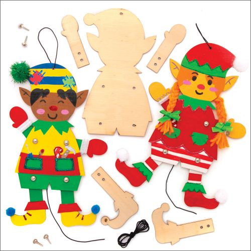 Christmas Elf Wooden Puppet Kits