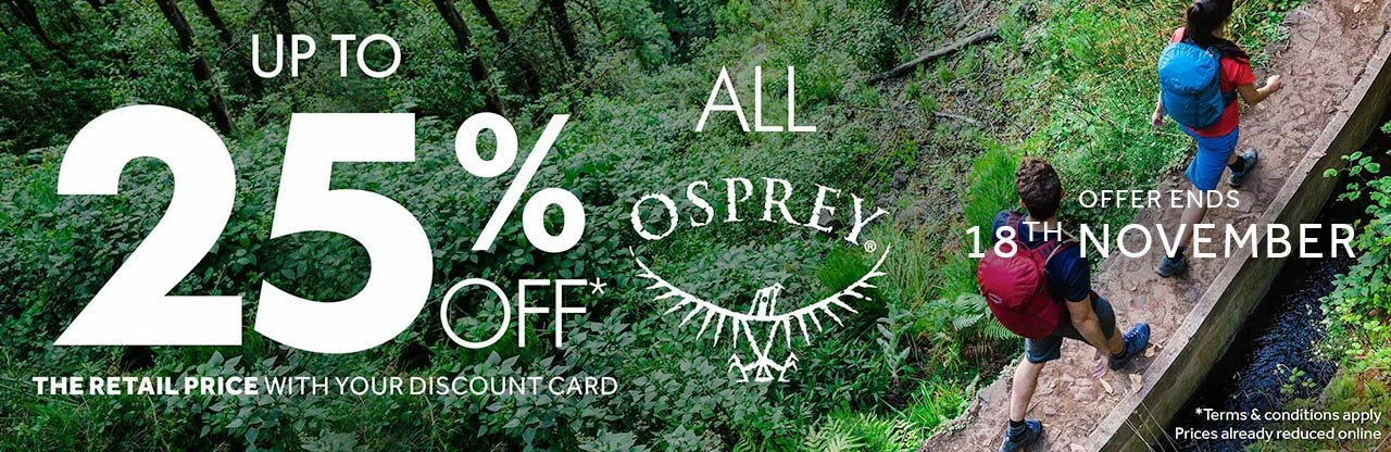 Up to 25% Off All Osprey