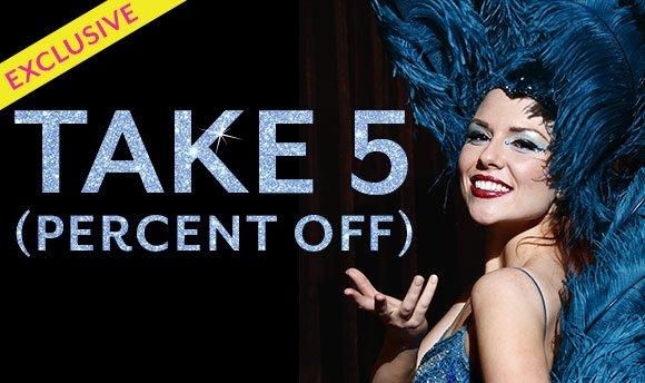 TAKE 5 (PERCENT OFF)