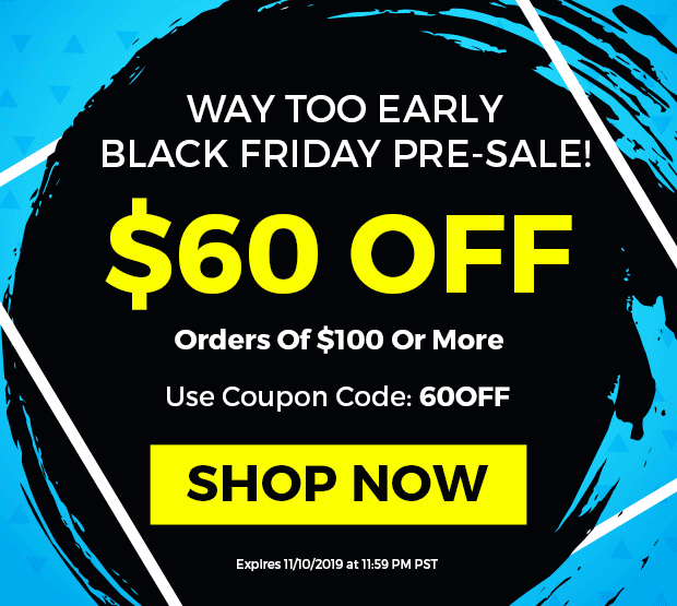 $60 OFF orders of $100 or More