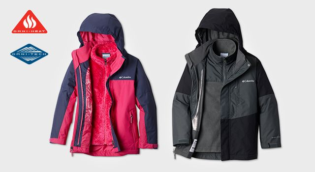 Mens and womens Omni tech rain jackets