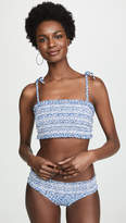 Printed Costa Tie Bandeau Bikini Top